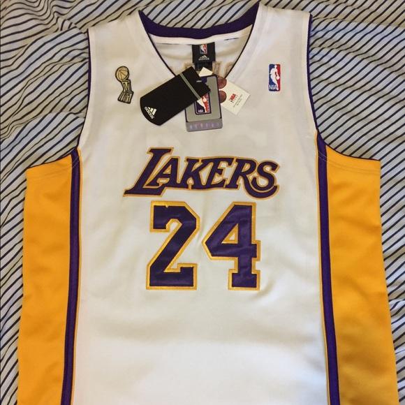 1380e6c6719 Adidas Kobe Bryant Lakers NBA finals jersey  24